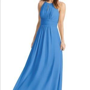 Azazie Bonnie bridesmaid dress in Blue Jay